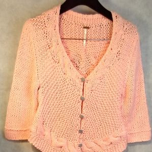 Free People soft pink cardagan size M